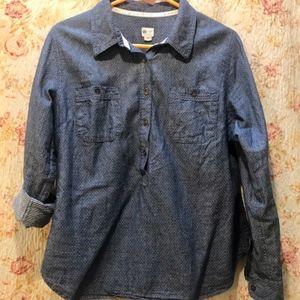 TOM's Polka Dotted Denim Shirt